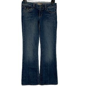 Paige Pico Boot Cut Jeans Low Rise Stretch Med Wsh